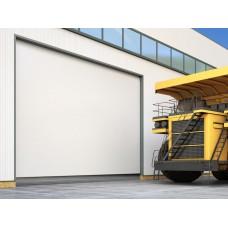Промышленные секционные ворота из алюминиевых панелей ISD03
